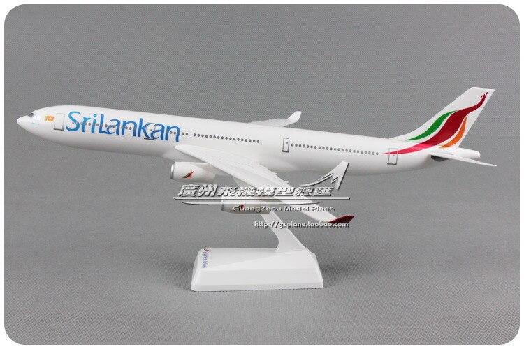 aeronave aereo srilankan tamanhos 1200 de plastico montado modelo de aviao das linhas