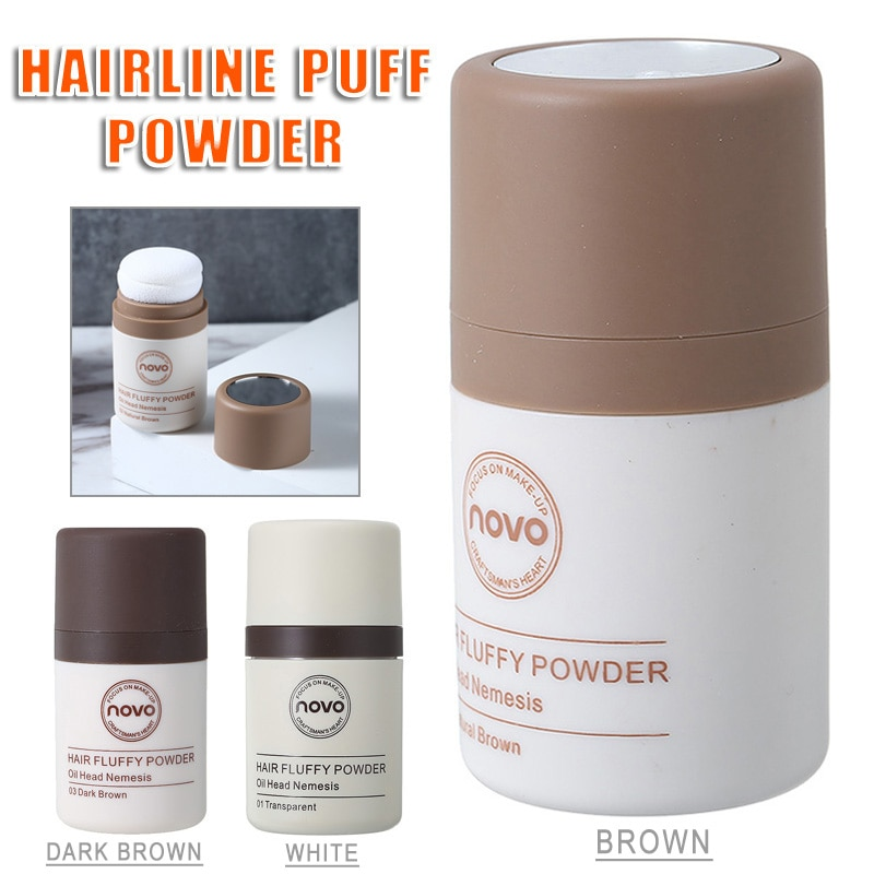8.5g Fluffy Hairline Powder Shadow Makeup Root Cover Up Concealer Edge Control Hair Line Powder 3 Co