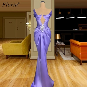 Special Purple Mermaid Prom Dresses Long Sexy Evening Dresses For Women Sleeveless Wedding Party Dress Vestido De Fiesta De Boda