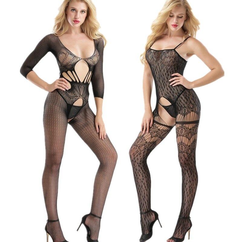 Collants ajourés pour femmes, collants Sexy, Lingerie Sexy, bas de résille érotique, grande taille, pour corps Transparent