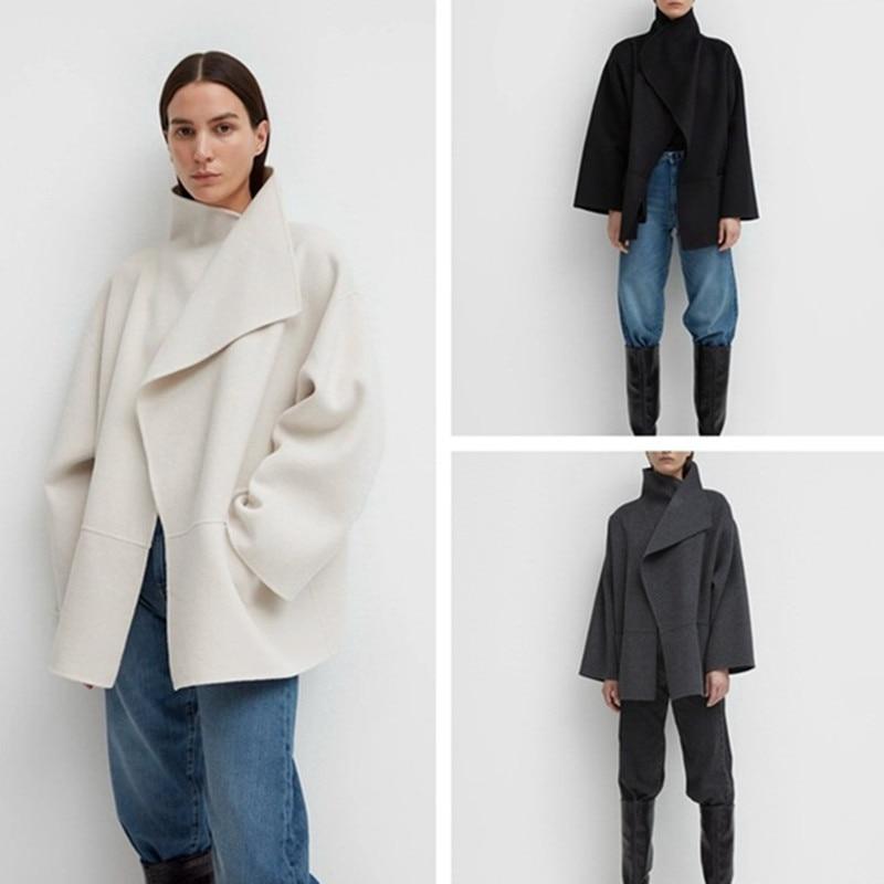 Chaqueta de abrigo de lana para mujer de abrigo de lana de...