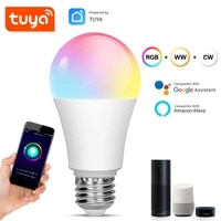 Ampoule LED connectee TuYa  15w E27  wi-fi  multicolore  fonctionne avec Alexa  Echo  Google Home  RGB  variable  application Smart Life
