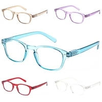 2021 stylish high quality square plastic frame with spring loaded hinges for men and women