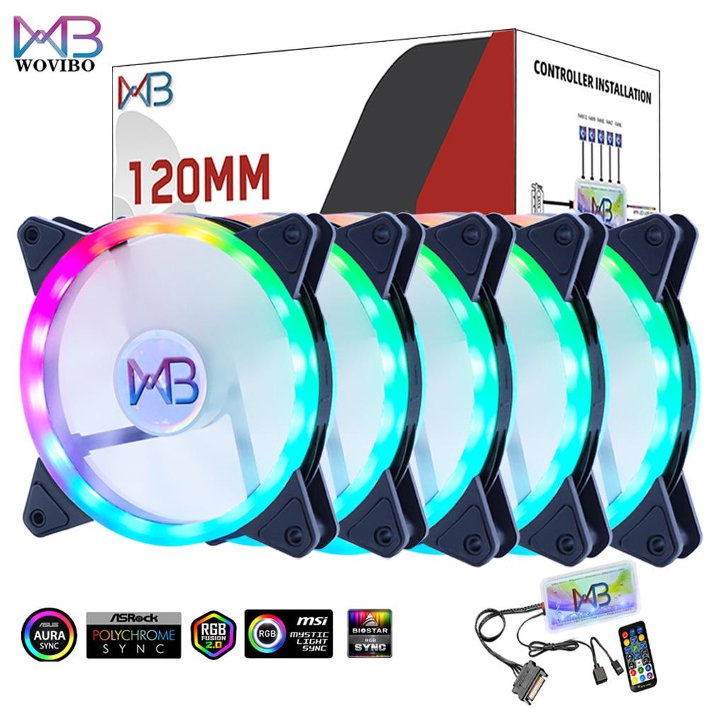 AliExpress - 120mm Computer Cooling Fan PC RGB Case Fans Cooler ARGB RGB 5V 3PIN Mute Silent Radiator 6Pin Synchronization Ventilador