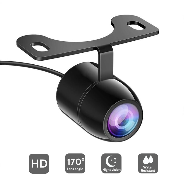 Cámara de visión trasera HD de Versión mejorada para cámara de marcha atrás de coche de 170 grados de ángulo de visión de estacionamiento cámaras Auto Monitor trasero delantero