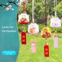 lucky cat car pendant resin creative hanging car decoration supplies cute cartoon cat pendant car accessories interior car decor