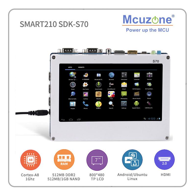 Smart210/TINY210V2SDK S70 S5PV210 Cortex-A8 مجلس مع 7