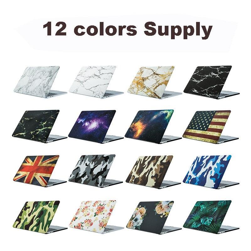 Funda dura personalizada para Macbook Air 11 12 13 Pro 13 15 Retina bolsa Touch Bar mate dibujo impresión cubierta de mármol DIY carcasa