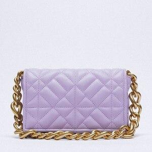 Brand Handbag Small Flap Shoulder Bag Thick Metal Chain Women Clutch Bags Designer Luxury Handbags Ladies Shoulder Purse Za Sac