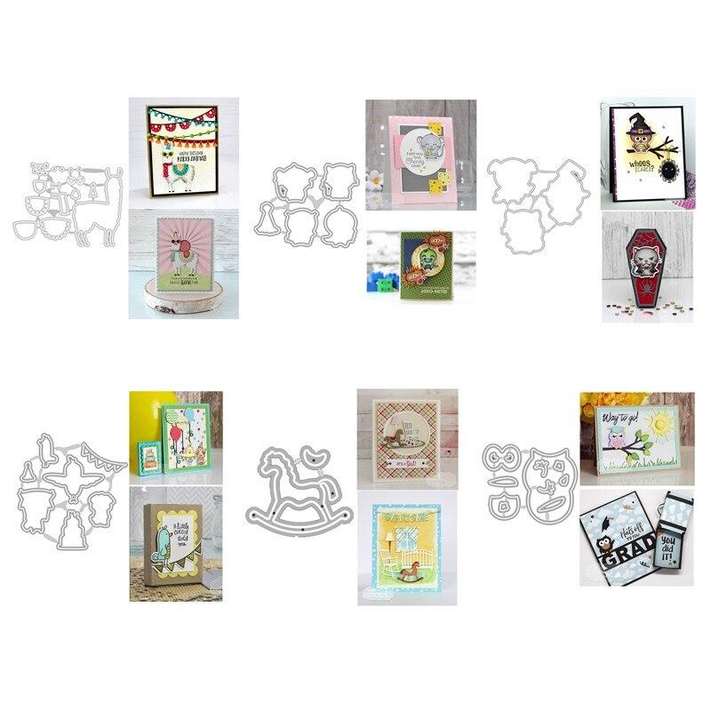 ¡Novedad de 2020! Troqueles de corte de Metal y álbum de recortes para fabricación de papel, serie de animales, marco en relieve de Alpaca, tarjetas artesanales sin sellos