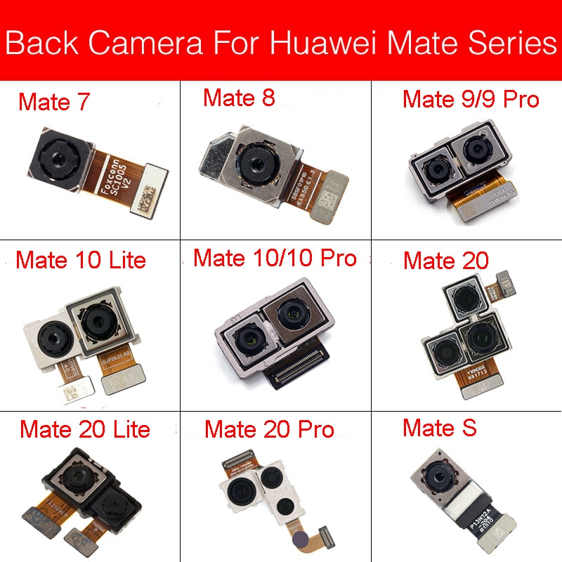 Módulo de cámara frontal Cable flexible para Huawei Mate 7 8 9 10 20 Lite Pro/Mate S Cámara pequeña cámara Flex Ribbon piezas de repuesto