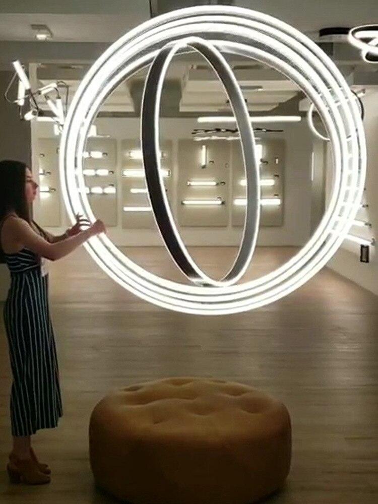 مصباح led زجاجي على الطراز الاسكندنافي ، كرة حديدية حديثة ، ثريا led ، مصباح صناعي ، غرفة طعام وغرفة نوم