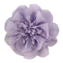50pcs/lot ,9cm chiffon flower Corsage with floral core hot sale DIY hair fashion accessories