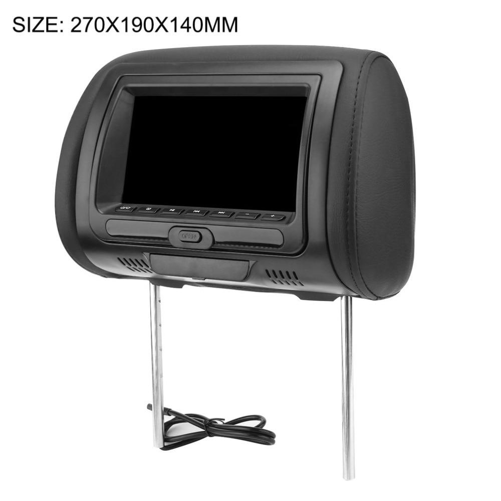 """Universal 7 """"monitor preto do encosto de cabeça do carro dvd do reprodutor do carro dvd/usb/hdmi do encosto de cabeça do carro com oradores internos do disco dos jogos"""