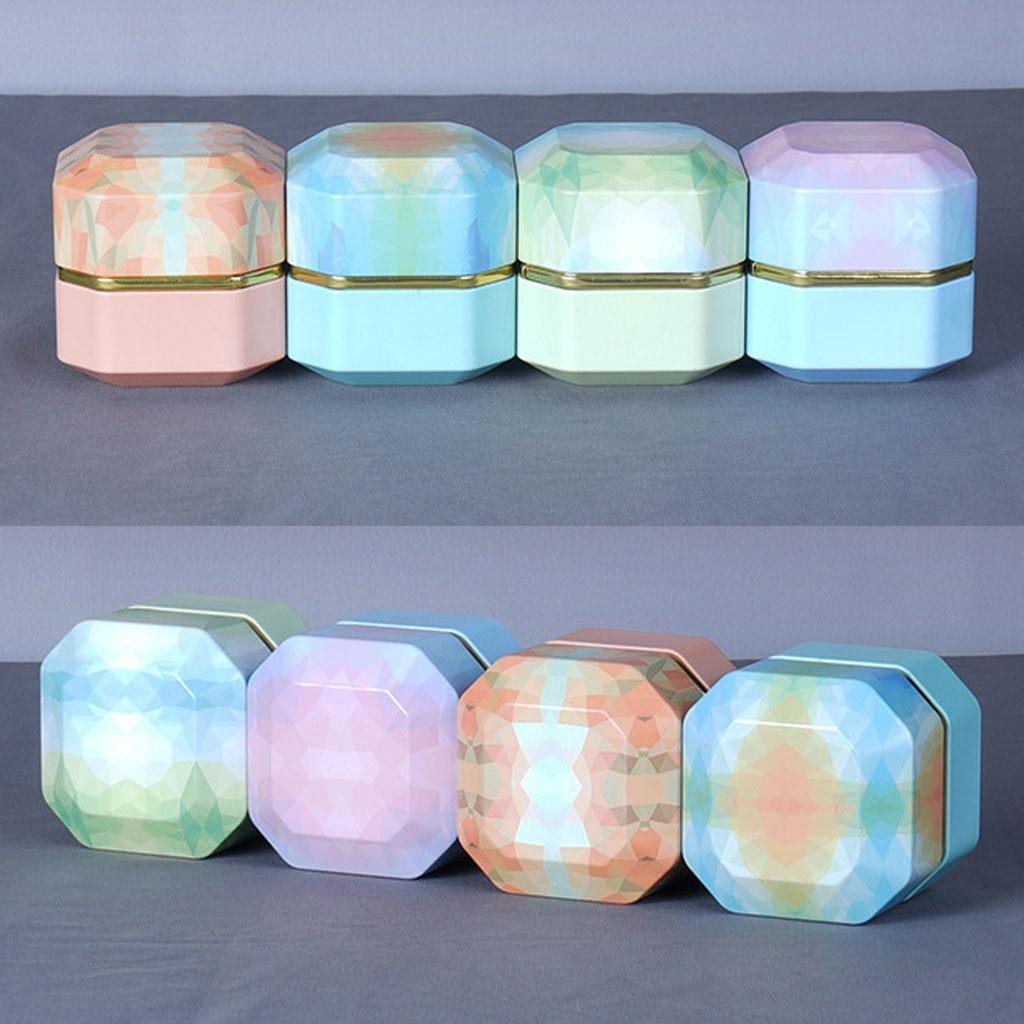 Mini Tin Loose Tea Coffee Candy Storage Box Diamond Shape Metal Case Wedding
