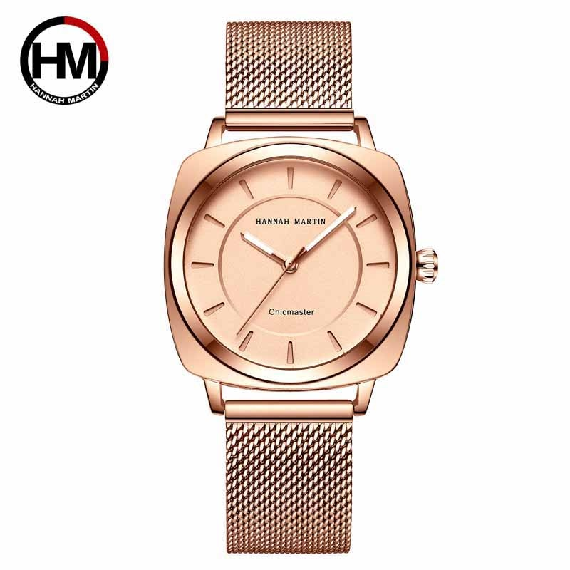 Hannah Martin Wrist Watches For Women Top Luxury Brand Steel Strap Women Watches Fashion Ladies Watch Quartz Clock Reloj Mujer 2020 women watches top brand luxury quartz watch leather strap fashion wristwatch for women clock ladies hodinky reloj mujer