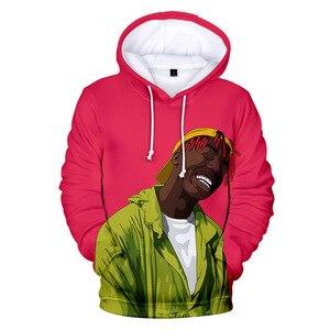 Lil Tjay Hoodie Sweatshirt Poster 3D Print Rip Hip Hop Rapper Fans Costume Men/Women Teens Lil Tjay Shirt Merch Long Sleeve Top