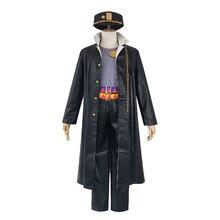 Brdwn JoJo's Bizarre Adventure Unisex Kujo Jotaro Cosplay Costume School Uniform (Coat+Shirt+Pants+Blet+Hat)