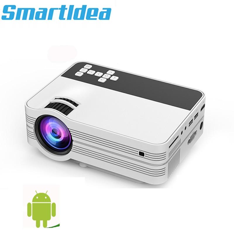 Smartldea-miniproyector LED de TV para cine en casa, 2000 lúmenes, Android 6,0,...