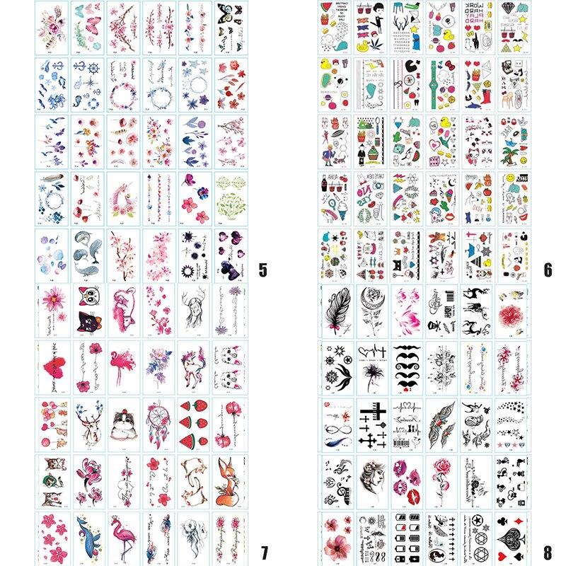 30 folhas bonito dos desenhos animados tatuagens temporárias festa à prova dwaterproof água crianças adultos removível casal tatuagens falsas adesivo dropshipping