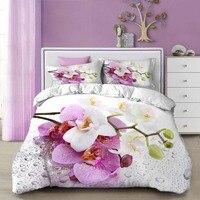 WOSTAR Duvet Cover King Size Queen Size Comforter Sets 3d digital printing magnolia flower luxury home textiles 3d bedding set