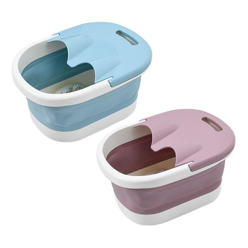 Bañera de pies plegable portátil, Cubo de masaje, para baño, viaje, hogar