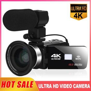 KOMERY 4K Video Camera 48MP 18X Digital Zoom Cameras Vlogging Camera for YouTube 3.0Inch 270 Degree Flip Screen Camcorder
