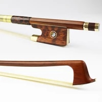 high quality new 44 size advanced pernambuco violin bow natural mongolia horsehair snake wood frog brass alloy