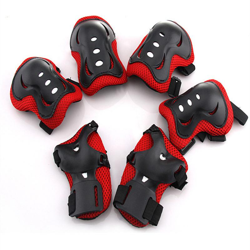6pcs/set Kids Children Outdoor Sports Protective Gear Knee Elbow Pads Riding Wrist Guards Roller Ska