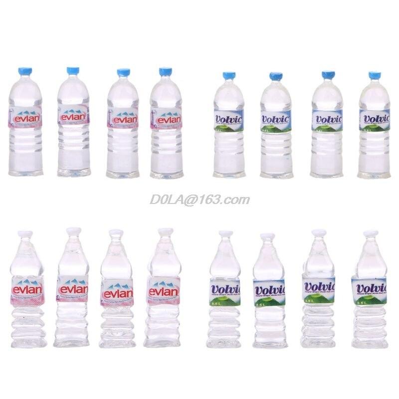 OOTDTY Heißer Verkauf 4 stücke 112 Spielzeug Wasser Flaschen Set Puppenhaus Miniatur Trinken Zubehör
