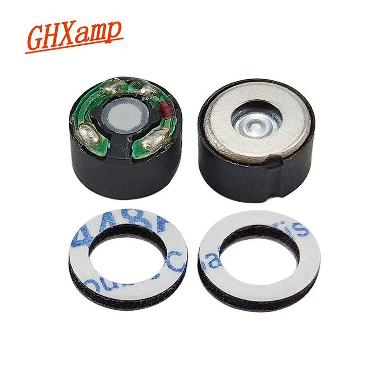 GHXAMP 8mm Headphone Speaker Unit Full Range Earphone Speaker 18OHM PU Metal Aluminum Film Headset U