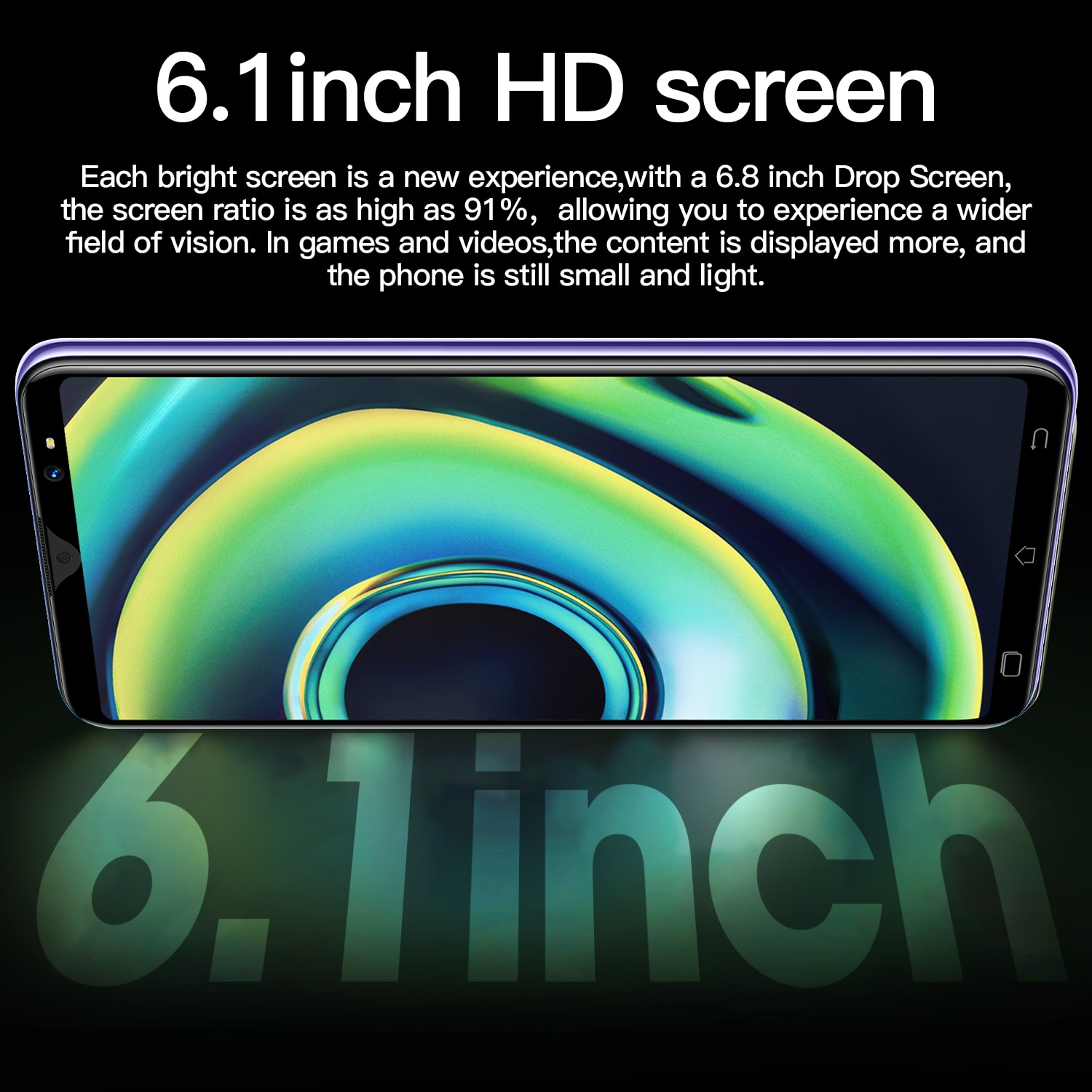 Hauwei Mate40 Pro Smartphone 6.1 inch 6GB+128GB 4800mAh Global Version 4G/5G Mobile phones Android Unlocked Celulares Cell phone enlarge