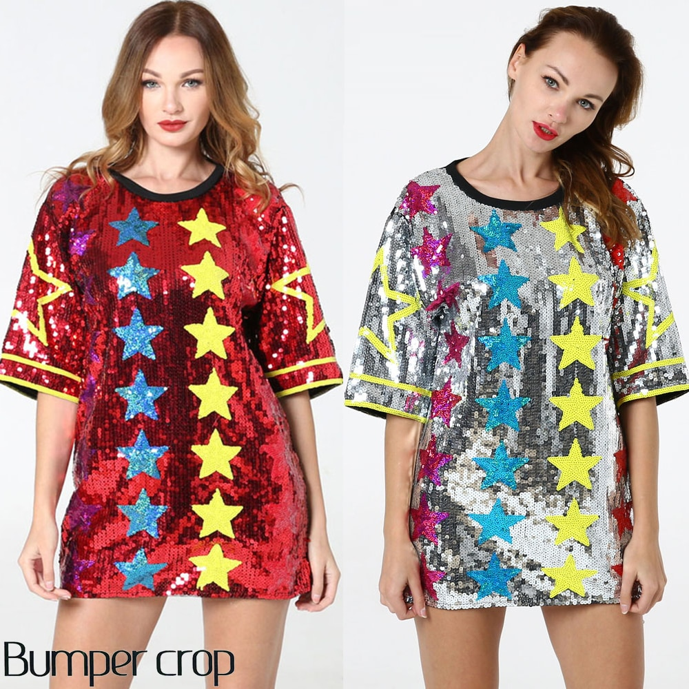 Vestido de verano 2020 nuevos vestidos de estilo para mujeres lentejuelas mini vestido praty vestido BLING-BLING mujer ropa shinny vestido INS