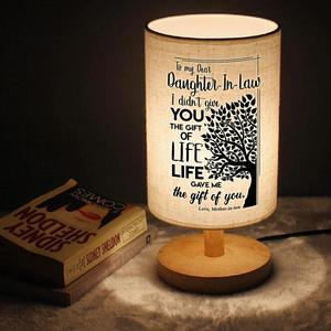 Mom gives daughter's graduation birthday Gift , square booklamp bedside lamp love you baby
