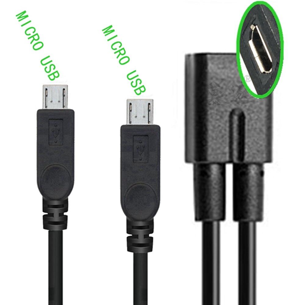 Divisor Micro USB 2,0 para teléfono, Cable de extensión de carga de...