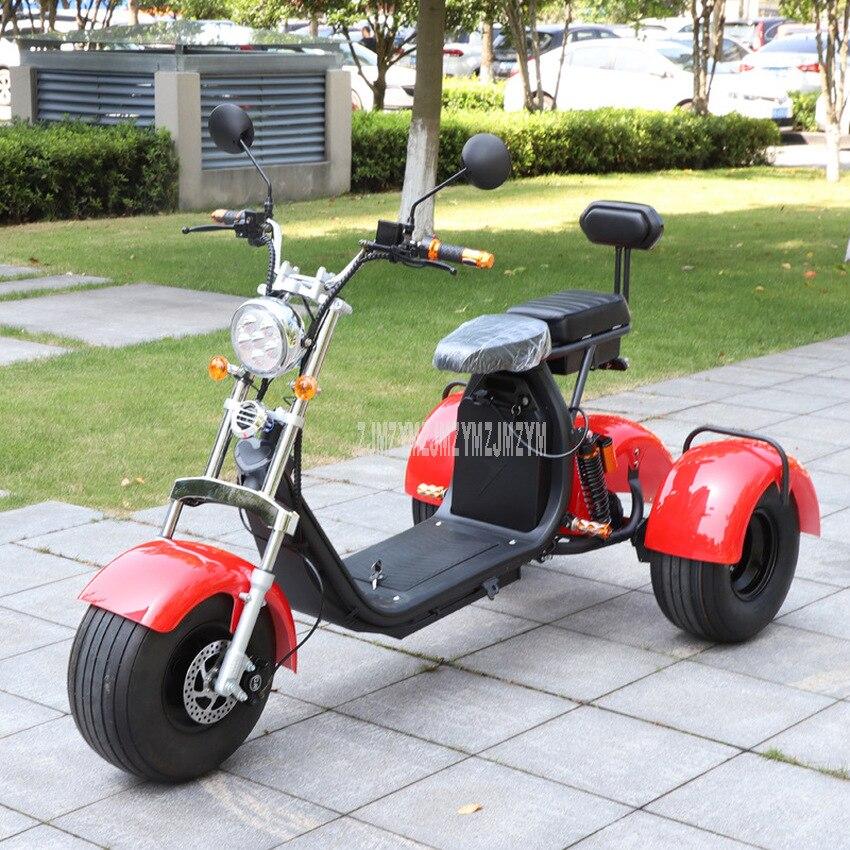 Elegante bicicleta eléctrica de 3 ruedas para adultos 1000W 60V bicicleta eléctrica de tres ruedas Scooter vehículo para personas mayores