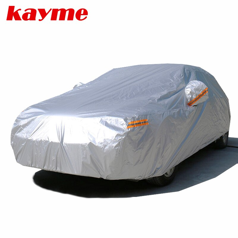 Kayme 210T Waterproof Full Car Covers Outdoor sun uv protection, dust rain snow protective, Universa