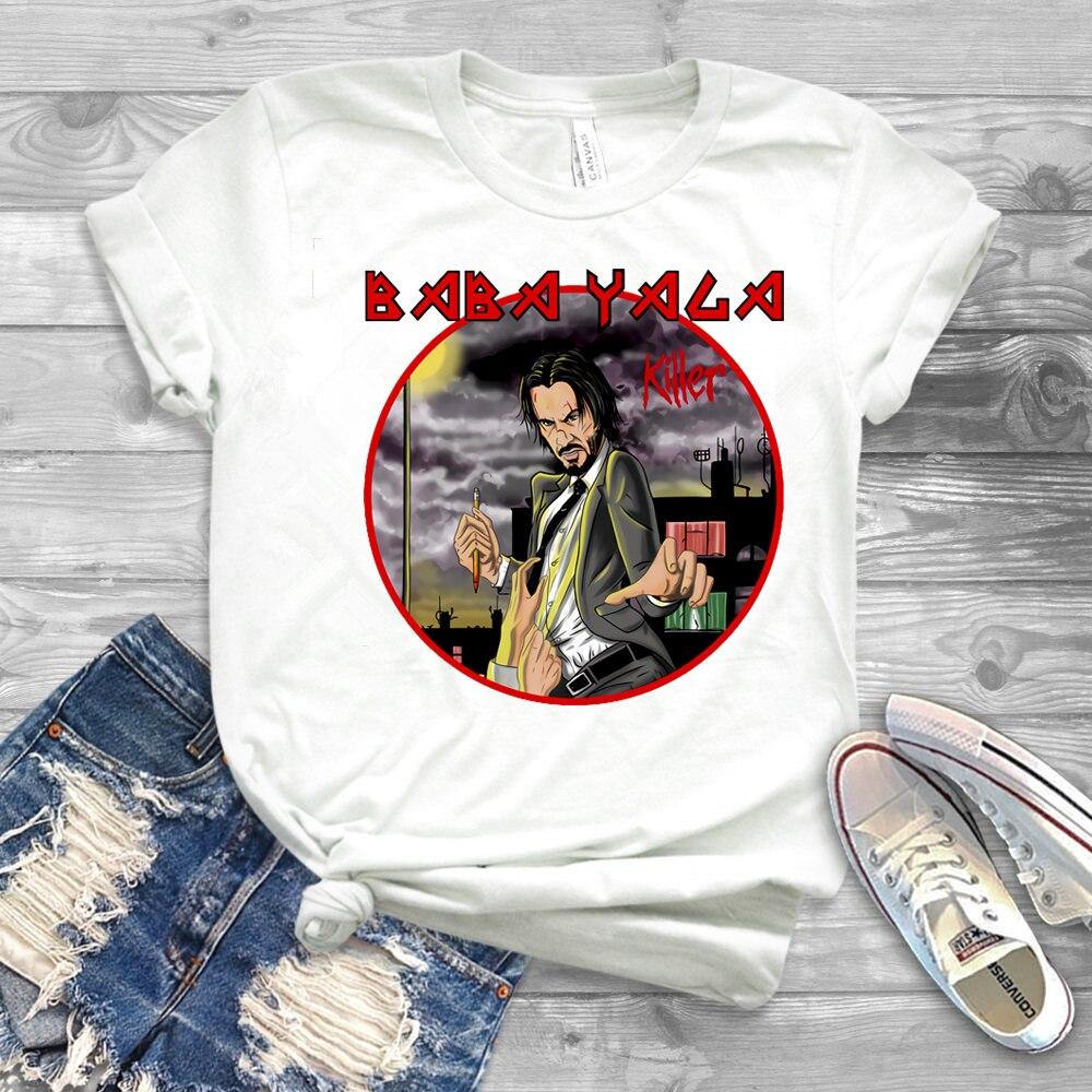 Футболка John Wick, футболка Baba Yaga, футболка Keanu Reeves Cult Movie, крутая уличная одежда, 2020