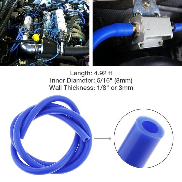 """1.5m Car Silicone Vacuum Hose 5/16"""" 8mm Fuel/Air Hose/Line/Pipe/Tube For Motorcycle Boat RV Auto ATV Quad Etc Car Accessories"""