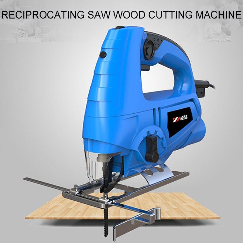 Sierra de calar eléctrica para cortar al aire libre, sierra de carpintería portátil, Cortadora De Madera manual, pequeño modelo de luz para hacer tallado