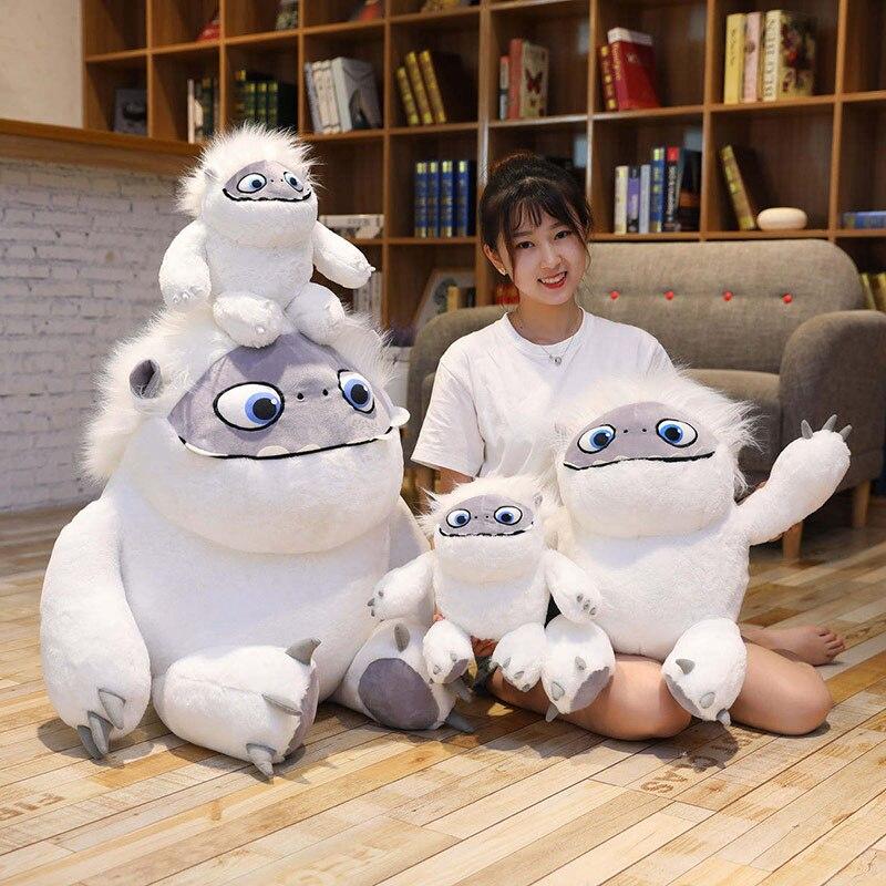 Abominável boneco de neve brinquedo de pelúcia anime filme personagem macio animal de pelúcia branco monstro boneca brinquedos criança crianças menina menino presente de aniversário