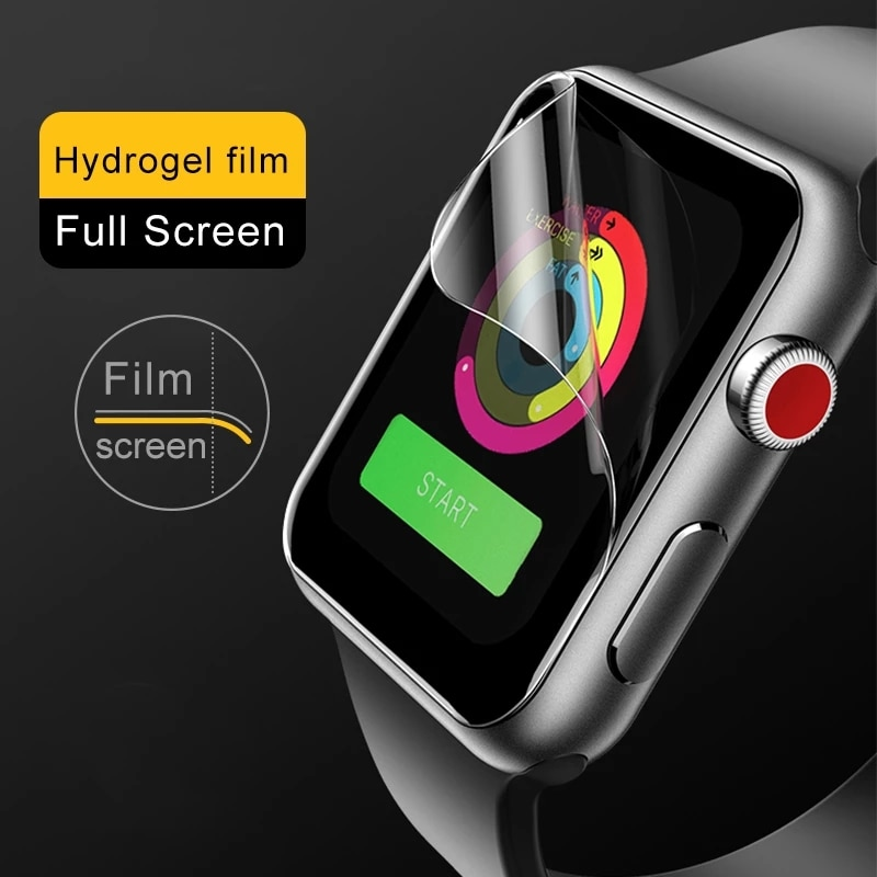 screen protector film for apple watch 6 se 5 4 40mm 44mm clear full protective film not glass for iwatch series 3 2 1 38mm 42mm Screen Protector Clear Full Protective Film for iWatch 4 5 6 SE 40MM 44MM Not Tempered Glass for Apple Watch 3 2 1 38MM 42MM