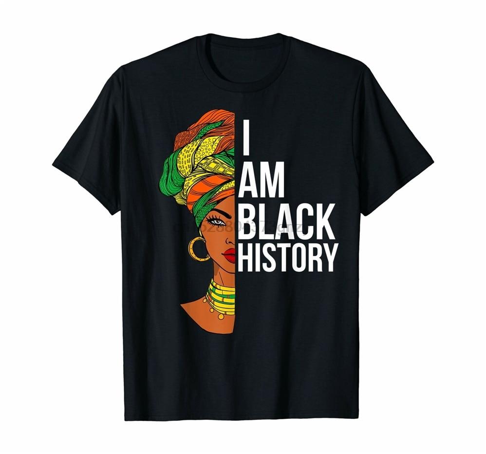 Camiseta de estilo africano y americano para mujer, regalos de Historia Negra, camiseta informal