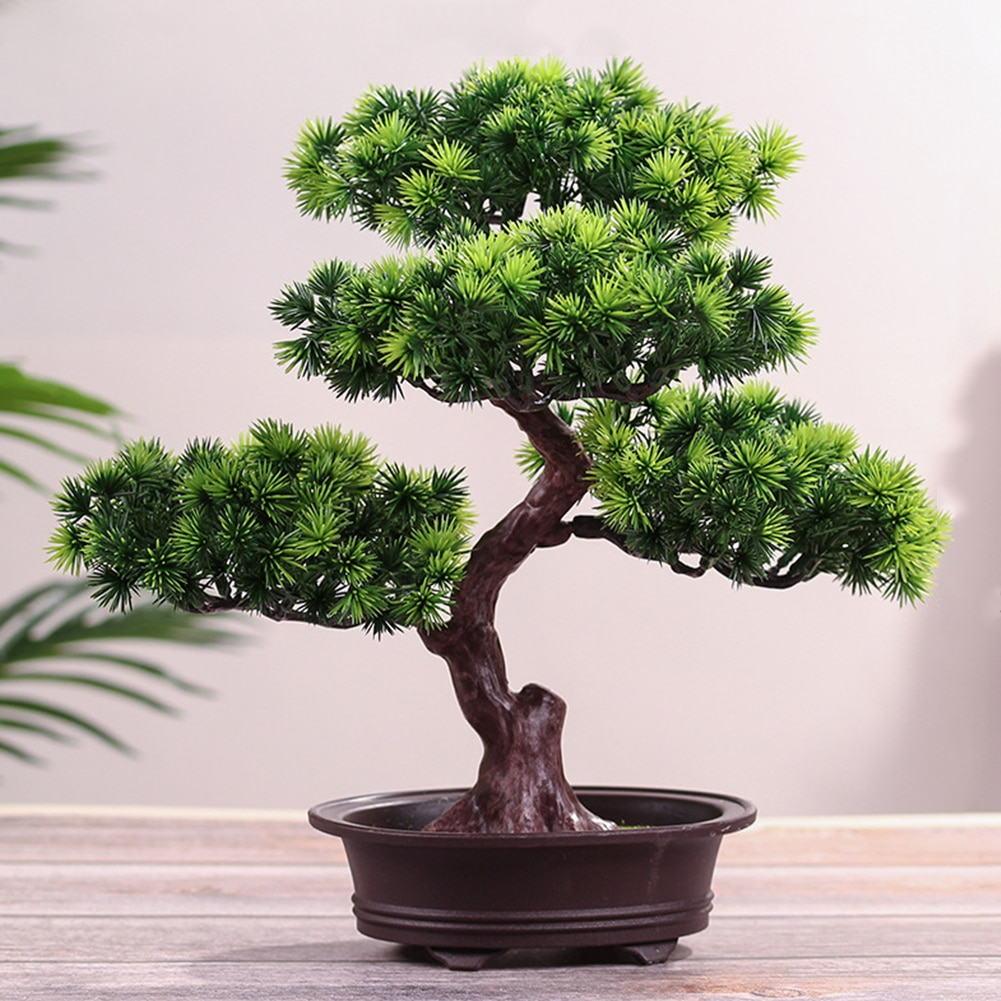 Festival planta en maceta simulación bonsái decorativo hogar Oficina Pino árbol regalo DIY ornamento realista accesorio Bonsai Artificial