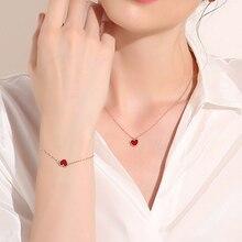 Heart-shaped Bracelet Alloy Chain Lucky Heart Charm Bracelet for Women Girls Wrist Bracelets Gift Je