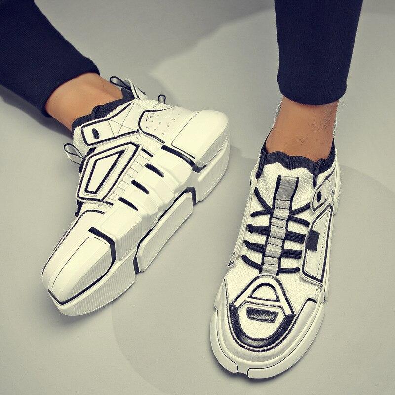 GM9 ربيع جديد ins أحذية سوبر حار اللون مطابقة عشاق الموضة تحلق المنسوجة حذاء كاجوال بفتحات تهوية