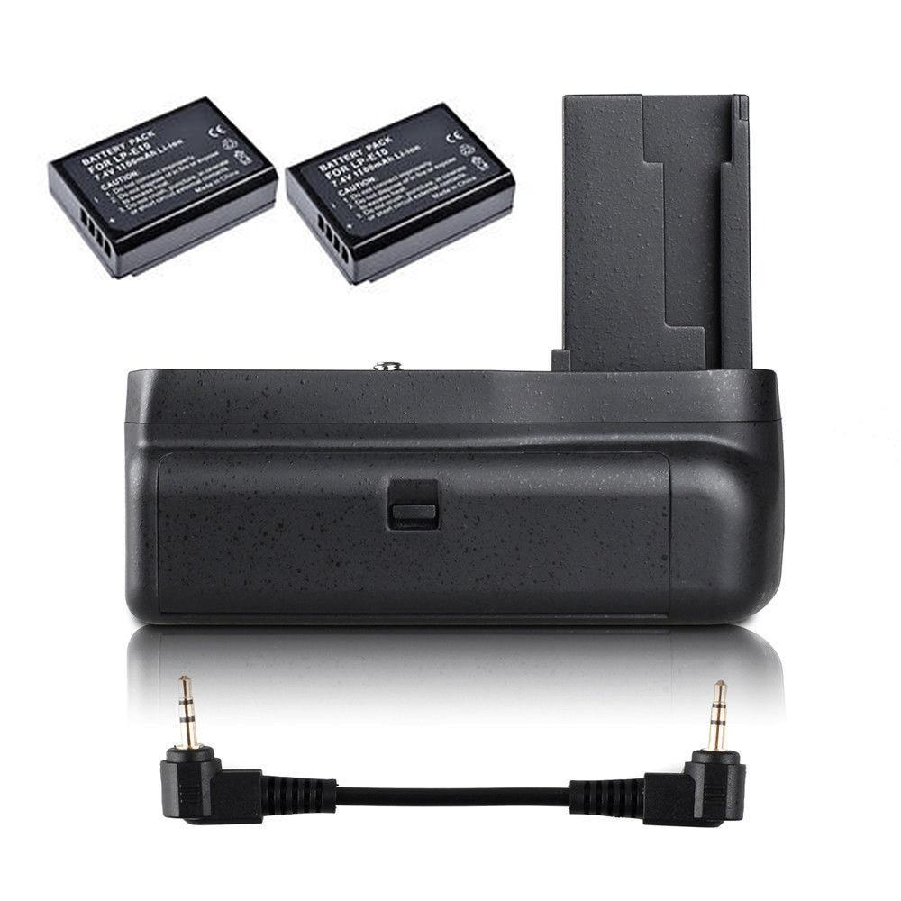 JINTU الرأسي قبضة البطارية + 2 قطعة LP-E10 كيت لكانون EOS 1100D 1200D 1300D/المتمردين T3 T5 T6/قبلة X50/70 SLR كاميرا W/نصف الصحافة