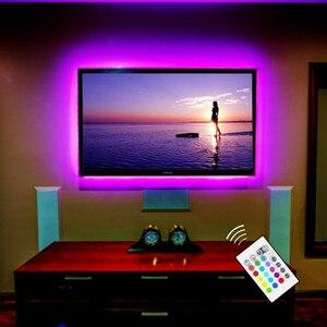 2 м светодиодный светильник с питанием от USB, ТВ, задний светильник, домашний кинотеатр, светильник для телевизора, компьютерный экран, телев...