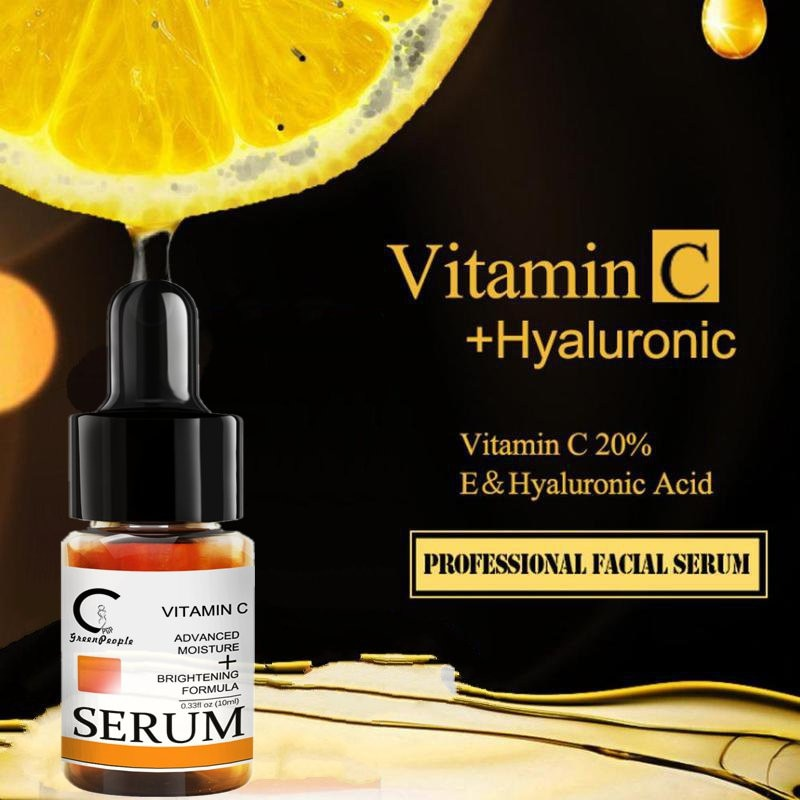 GPGP GreenPeople Vitamin C Skin Oil Liquid Freckle Removal Acne Scars Hyaluronic Acid Anti-wrinkle Vc Face Essential Oil