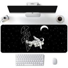 Bonito astronauta jogo mouse pad gamer universo planeta otaku preto teclado almofada menina portátil velocidade xl mouse tapete de mesa do computador